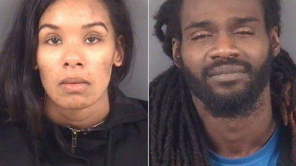 PHOTO: Jade Newman and Delane Bostic in police booking photos. (Cumberland Detention Center)