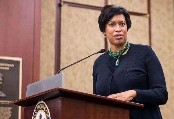 PHOTO: Mayor Muriel Bowser speaks during a news conference in the Capitol to discuss efforts to protect D.C.'s local laws during the FY2019 appropriations process in this May 2, 2018 file photo. (Bill Clark/CQ Roll Call via Newscom)