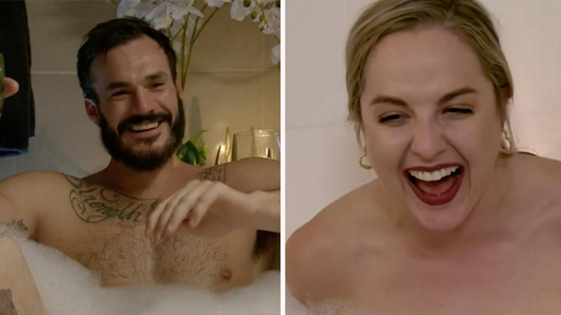 Viewers were shocked after seeing a particularly X-rated bath date on their screens at 7:30pm on Thursday night. Photo: Ten