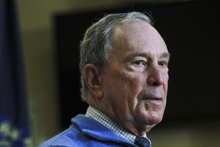 Michael Bloomberg speaks at a gun safety rally in New Hampshire in October. (Photo: Cheryl Senter/AP)
