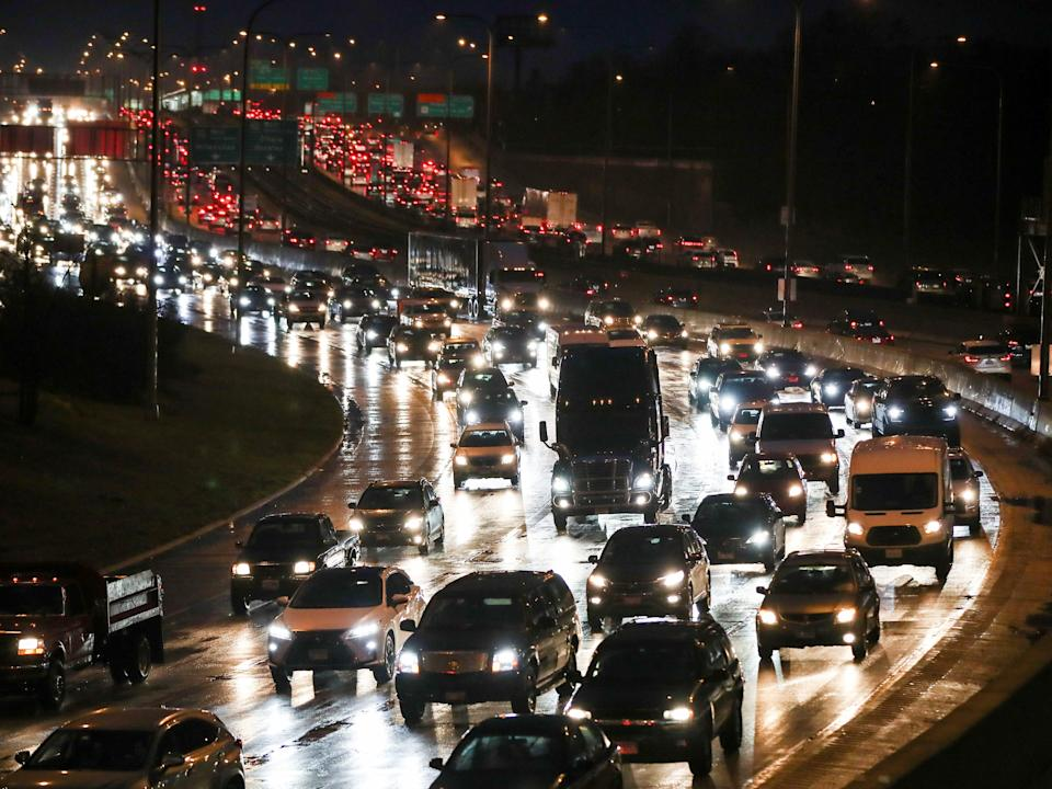Travellers take to the roads ahead of the Thanksgiving holiday during the coronavirus disease (COVID-19) outbreak, in Chicago, Illinois, U.S. November 24, 2020.
