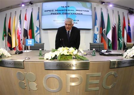 Organization of the Petroleum Exporting Countries (OPEC) Secretary General al-Badri arrives for a news conference following a meeting of OPEC oil ministers at OPEC's headquarters in Vienna