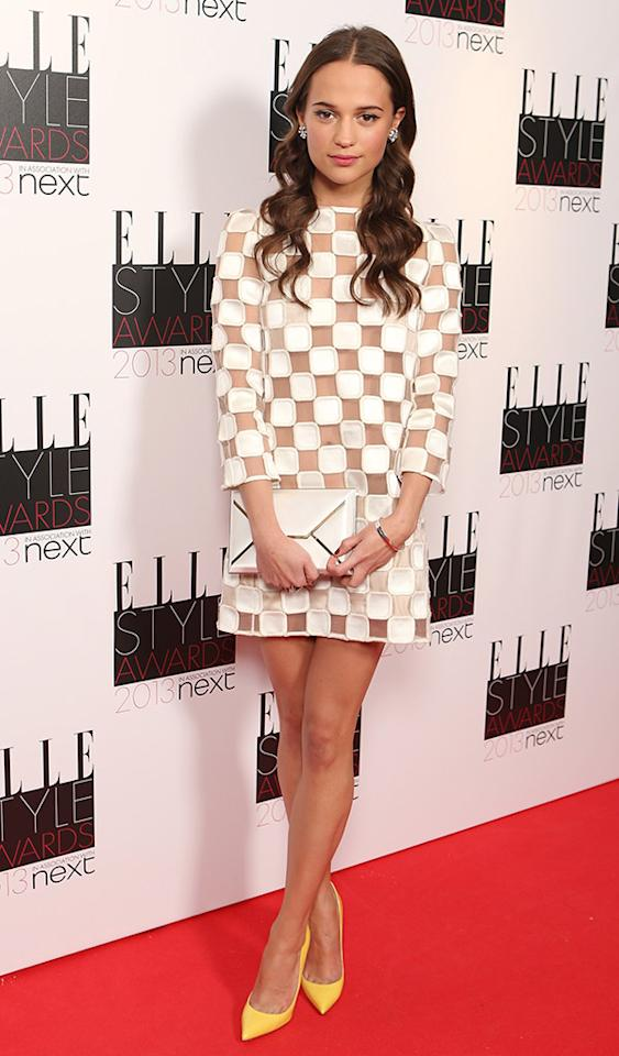 LONDON, ENGLAND - FEBRUARY 11:  Alicia Vikander attends the Elle Style Awards 2013 at The Savoy Hotel on February 11, 2013 in London, England.  (Photo by Mike Marsland/WireImage)