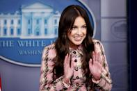 <p>Olivia Rodrigo visits the White House to encourage her young fans to get COVID-19 vaccines on July 14 in Washington, D.C.</p>