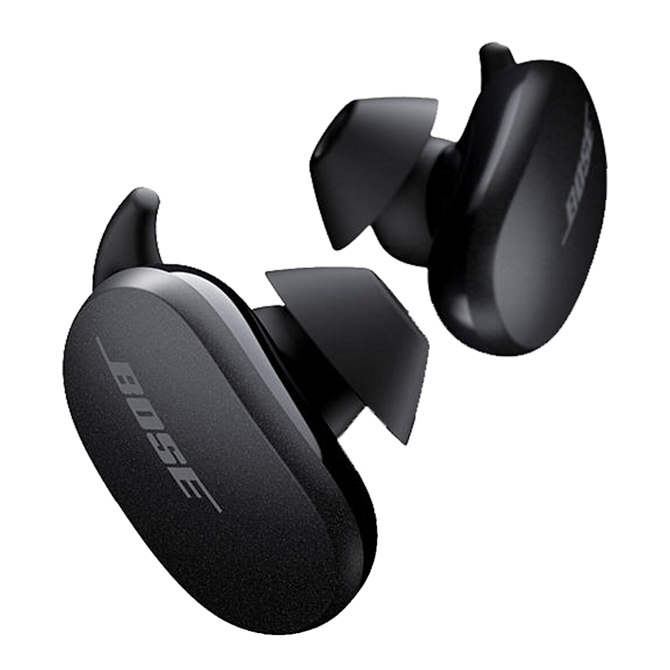"""<p><a class=""""link rapid-noclick-resp"""" href=""""https://go.redirectingat.com?id=127X1599956&url=https%3A%2F%2Fwww.johnlewis.com%2Fbose-quietcomfort-earbuds-noise-cancelling-true-wireless-sweat-weather-resistant-bluetooth-in-ear-headphones-with-mic-remote%2Fsoapstone%2Fp5140195&sref=https%3A%2F%2Fwww.esquire.com%2Fuk%2Fdesign%2Fg22798845%2Fgadgets-for-men%2F"""" rel=""""nofollow noopener"""" target=""""_blank"""" data-ylk=""""slk:SHOP"""">SHOP</a></p><p>The most impressive True Wireless device we've tried in a long time. Sitting comfortably and securely in the ear through exercise sessions, these sweat-and-water-resistant earbuds boast brilliant noise-cancelling technology which you can toggle with using the Bose app. The sound quality is top tier, too, and the battery life is solid: six hours from a single charge, and the wireless charging case provides two extra charges, amounting to 18 hours in total. Not exactly cheap, but they're one of the best options on the market.</p><p>Bose QuietComfort Earbuds, £249, <a href=""""https://www.johnlewis.com/bose-quietcomfort-earbuds-noise-cancelling-true-wireless-sweat-weather-resistant-bluetooth-in-ear-headphones-with-mic-remote/soapstone/p5140195"""" rel=""""nofollow noopener"""" target=""""_blank"""" data-ylk=""""slk:johnlewis.com"""" class=""""link rapid-noclick-resp"""">johnlewis.com</a></p>"""