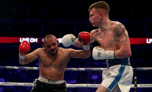 Dalton Smith, right, handed Ibrar Riyaz a rare stoppage defeat (Bradley Collyer/PA)