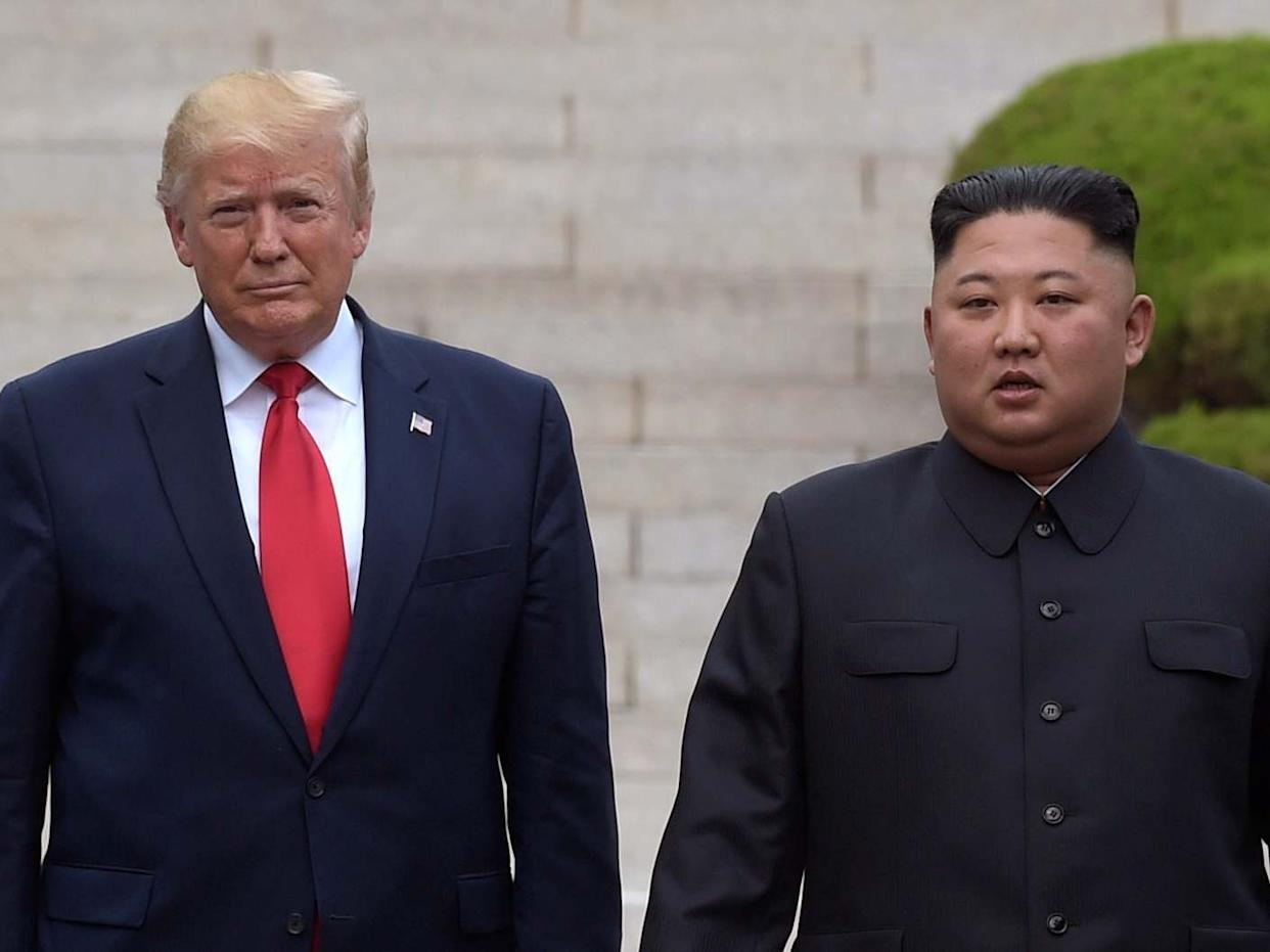 Donald Trump meets with Kim Jong-un at the North Korean side of the border in Demilitarized Zone: AP