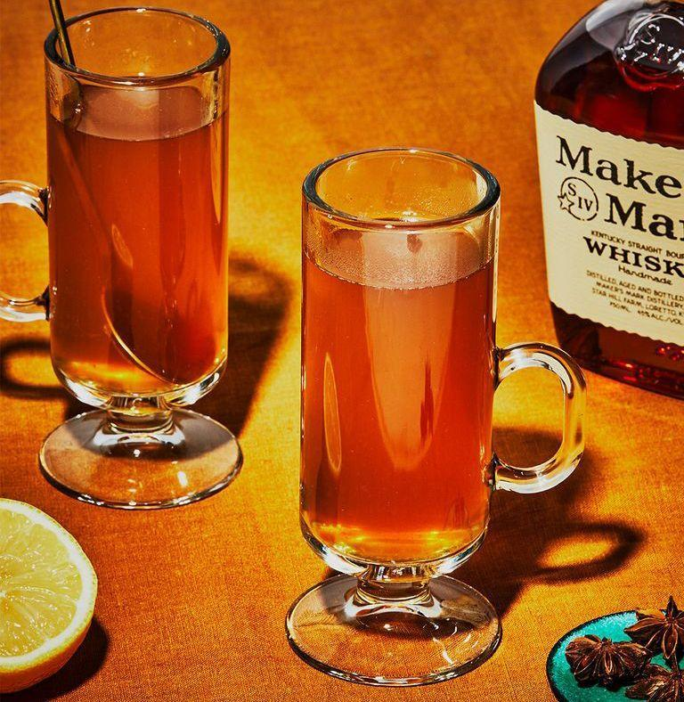 """<p><em>A steaming Hot Toddy is a liquid cure for a bad day, like herbal tea and then some. Just what the doctor ordered. </em><br></p><p><strong>Ingredients<br> </strong>• 2 oz. bourbon<br>• 1 oz. honey<br>• 1 oz. lemon juice<br>• 4 dashes Tiki bitters (optional)<br>• 1 star anise pod or tea bag</p><p><strong>Directions<br></strong>1. Boil water in a teapot. Steep star anise pod or tea bag inside. <br>2. Add bourbon, honey, lemon, and Tiki bitters to a mug. Stir.<br>3. Serve in glass mugs with a spoon and the teapot. <br>4. To enjoy, pour tea over cocktail base to taste, and stir. <br><br><a class=""""link rapid-noclick-resp"""" href=""""https://www.esquire.com/food-drink/drinks/recipes/a3828/hot-toddy-drink-recipe/"""" rel=""""nofollow noopener"""" target=""""_blank"""" data-ylk=""""slk:Read More"""">Read More</a><br></p>"""