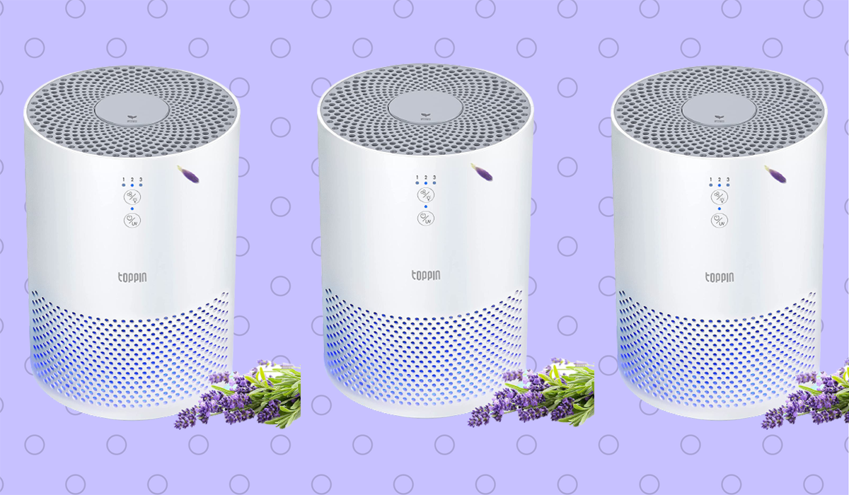 Small and mighty, this air purifier — just over nine inches high — transforms the air you breathe. (Photo: Amazon)