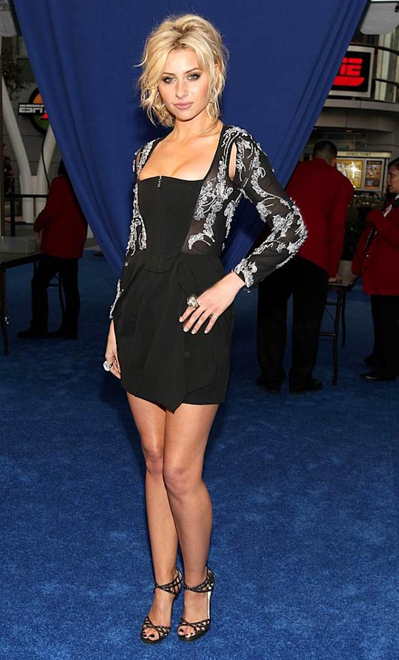 """""""Hellcats"""" vixen Alyson Michalka popped a pose in a skimpy zippered mini. A disastrous 'do, two enormous cocktail rings, and chintzy-looking heels completed her messy ensemble. Christopher Polk/<a href=""""http://www.gettyimages.com/"""" target=""""new"""">GettyImages.com</a> - January 5, 2011"""