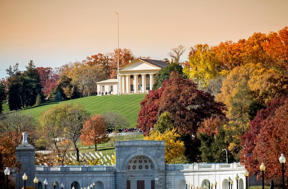 arlington national cemetery and arlington house, most common town names