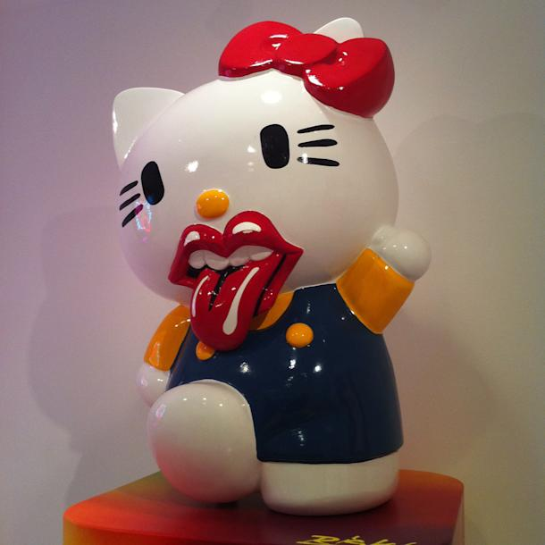 that inspired many of the pop artists including shepard fairey who contributed original avant artwork to hello kitty hello art s 200 color pages