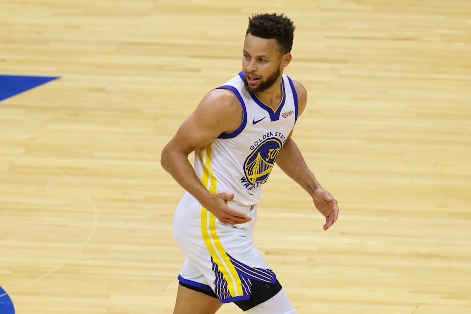 Steph Curry would make an Olympic 3x3 team of NBA stars, right? Well ... (Photo by Rich Schultz/Getty Images)