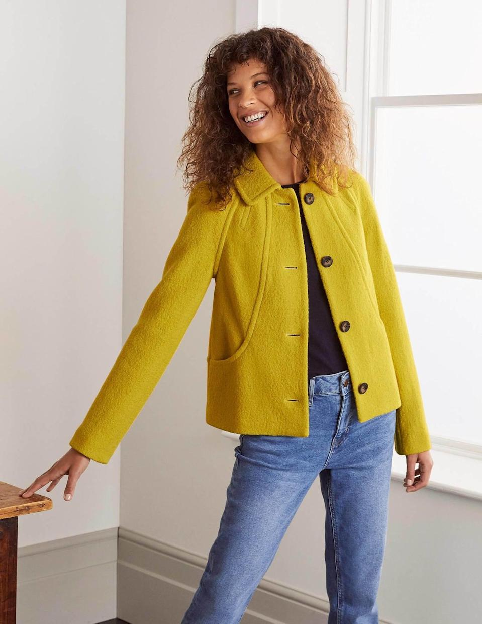 <p>This <span>Hatfield Seam Jacket</span> ($198) will add so much polish to your ensemble.</p>
