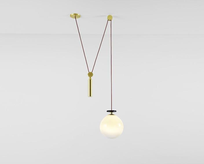 """<p><strong>Shape Up Pendant</strong></p><p><strong>$3680.00</strong></p><p><a href=""""https://ladiesandgentlemenstudio.com/shape-up-globe"""" rel=""""nofollow noopener"""" target=""""_blank"""" data-ylk=""""slk:Shop Now"""" class=""""link rapid-noclick-resp"""">Shop Now</a></p><p>Founded by Dylan Davis & Jean Lee in 2010, <a href=""""https://ladiesandgentlemenstudio.com/"""" rel=""""nofollow noopener"""" target=""""_blank"""" data-ylk=""""slk:Ladies & Gentlemen Studio"""" class=""""link rapid-noclick-resp"""">Ladies & Gentlemen Studio</a> is a bicoastal design shop that prides itself in designing pieces that spark a sense of wonderment. The studio collaborates with artists throughout the country to create a diverse inventory of lighting, small decor pieces, and jewelry. </p>"""