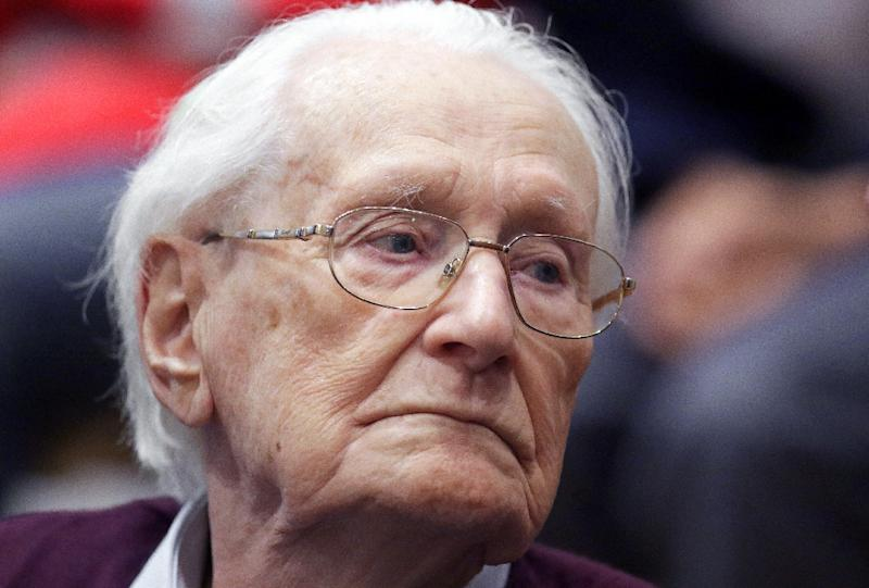 Former Nazi SS officer Oskar Groening was sentenced to four years in prison for accessory to the murder of 300,000 Hungarian Jews (AFP Photo/Axel Heimken)