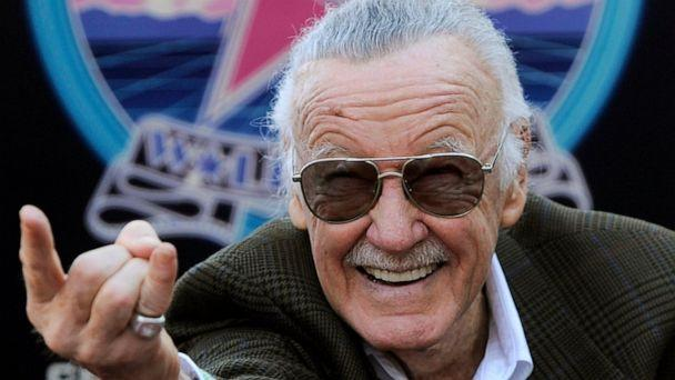 PHOTO: In this Jan. 4, 2011 file photo, Comic book creator Stan Lee strikes the Spiderman pose as he poses after receiving a star on the Hollywood Walk of Fame in Los Angeles. (AP Photo/Chris Pizzello)