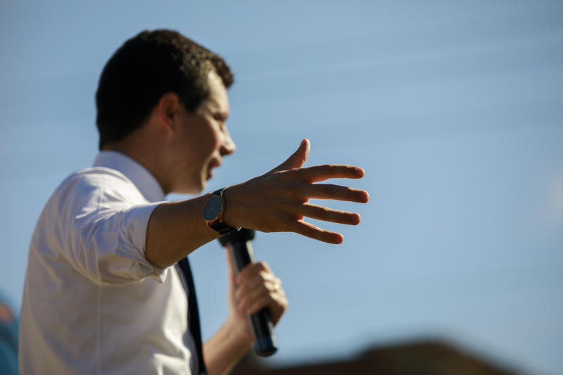 Buttigieg. (Photo: Jeremy Hogan/SOPA Images/LightRocket via Getty Images)