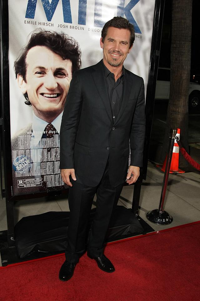 "<a href=""http://movies.yahoo.com/movie/contributor/1800019611"">Josh Brolin</a> at the Los Angeles premiere of <a href=""http://movies.yahoo.com/movie/1810041985/info"">Milk</a> - 11/13/2008"