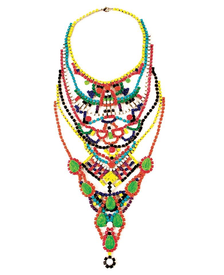 """<p>Are you guilty of only owning dark or neutral clothing? This one necklace will give your entire closet the refresh it deserves. </p><p>Buy it <a rel=""""nofollow"""" href=""""http://www.akatombinns.com/contact.html"""">here</a> for Price Upon Request.</p>"""