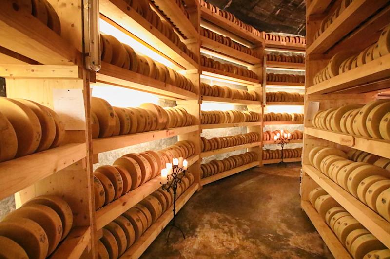Molkerei Gstaad houses up to 3,120 wheels of cheese: Gstaad tourist board