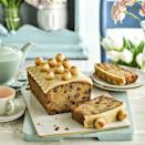 """<p>Simnel Loaf Cake: With a central layer of hazelnut marzipan, this is one elevated classic!</p><p><strong>Recipe: <a href=""""https://www.goodhousekeeping.com/uk/food/recipes/a33345205/simnel-loaf-cake/"""" rel=""""nofollow noopener"""" target=""""_blank"""" data-ylk=""""slk:Simnel Loaf Cake"""" class=""""link rapid-noclick-resp"""">Simnel Loaf Cake</a></strong></p>"""
