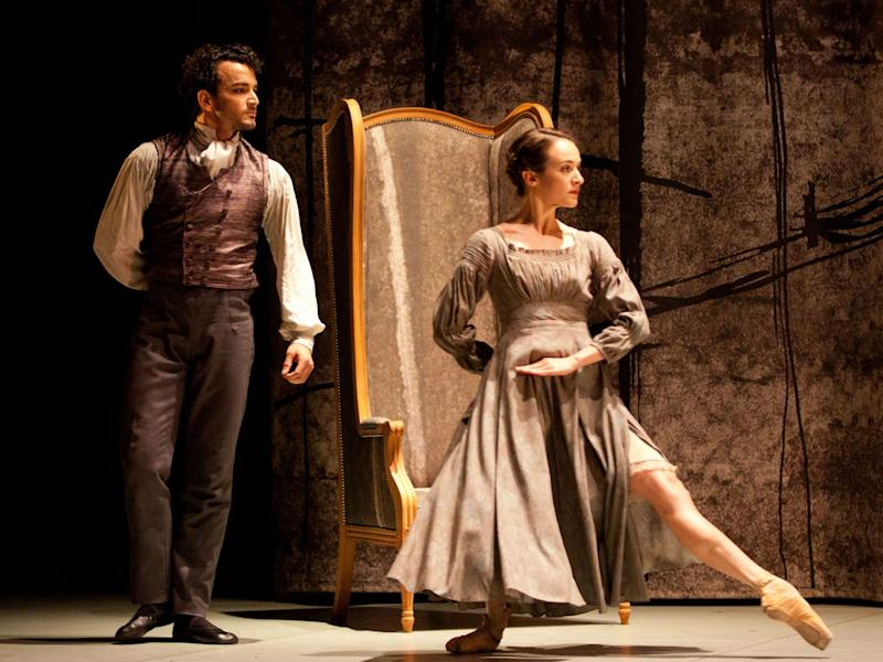 Dreda Blow as Jane and Javier Torres as Mr Rochester in 'Jane Eyre': Caroline Holden