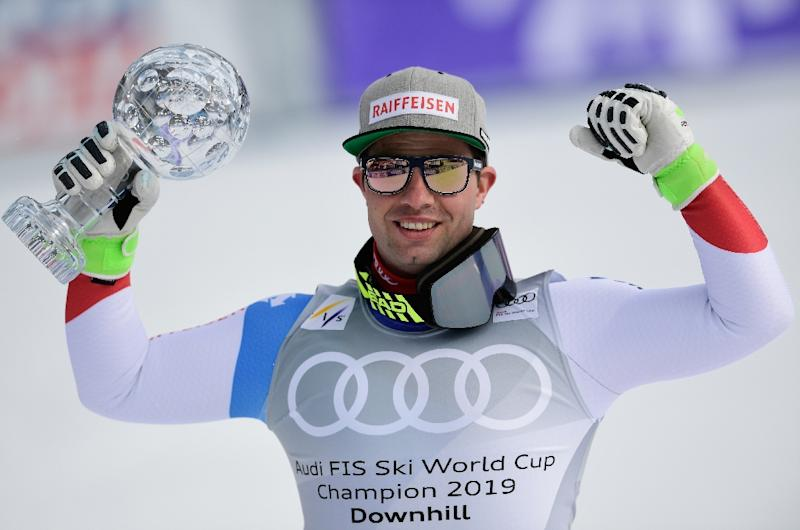 Beat Feuz with his second consecutive downhill small globe