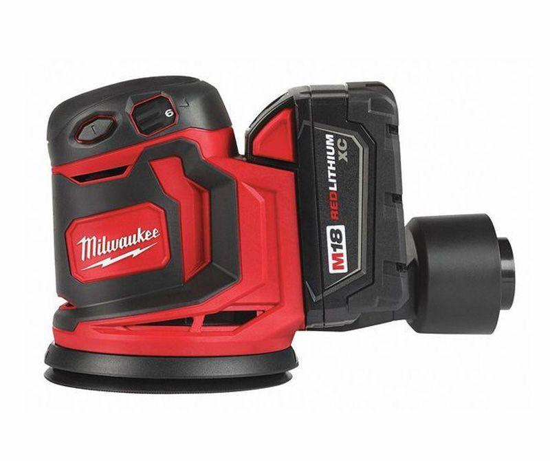 """<p><strong>MILWAUKEE'S</strong></p><p>amazon.com</p><p><strong>$114.95</strong></p><p><a href=""""http://www.amazon.com/dp/B07BM93DK1/?tag=syn-yahoo-20&ascsubtag=%5Bartid%7C10060.g.26626730%5Bsrc%7Cyahoo-us"""" rel=""""nofollow noopener"""" target=""""_blank"""" data-ylk=""""slk:Buy Now"""" class=""""link rapid-noclick-resp"""">Buy Now</a></p><p><strong>Weight</strong><strong>:</strong> 4.2 lb <br><strong>Battery</strong><strong>:</strong> 3.0 Ah, 18 V</p><p>You don't have to muscle this sander to keep it in place, and it feels as if it floats over the board's surface. However, the design of the dust canister and the way it cantilevers over the rear of the tool is a bit cumbersome—especially considering that this is a cordless tool, we would have liked if it were a bit more nimble. So the ideal application for this sander is smoothing out a table top or dealing with a rough spot on wood siding. It's better there, let's say, than working inside a drawer. To be fair, however, if you opt out of the canister, you can easily hook up a hose from a shop vacuum to its outlet port. At that point, it's no more cumbersome than other sanders.</p>"""
