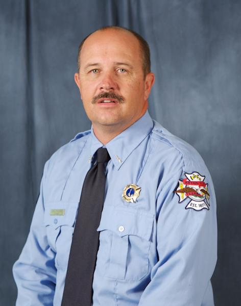 This photo provided by the City of Bryan shows Lt. Gregory Pickard, who died Saturday, Feb. 16, 2013, during a lodge hall fire that killed him and another colleague. Two other firefighters are recovering at the University of Texas Medical Branch in Galveston. (AP Photo/City of Bryan)