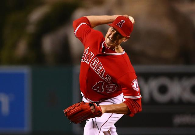 Garrett Richards is darting 98-mph fastballs again after turning to orthobiologics. (Getty Images)