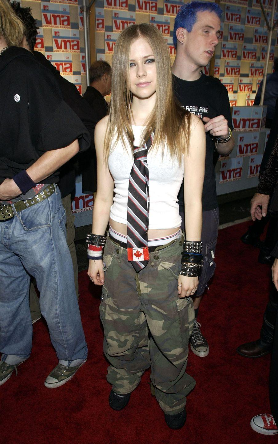 <p>Never forget that time you tried on one of your dad's ties to see if you could pull off Avril's punk look—also starring camo cargo pants!—from the VMAs.</p>