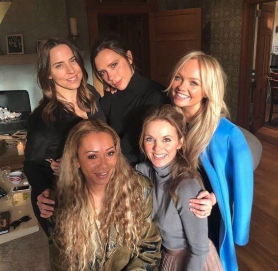 All five Spice Girls during a meet-up in 2018 (Photo: Instagram)
