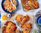 """<p><strong>Recipe:</strong> <a href=""""https://www.southernliving.com/recipes/grilled-sweet-potato-fries"""" rel=""""nofollow noopener"""" target=""""_blank"""" data-ylk=""""slk:Grilled Sweet Potato Fries"""" class=""""link rapid-noclick-resp"""">Grilled Sweet Potato Fries</a></p> <p>Of course, you need a crispy accessory for your hot dog. These Grilled Sweet Potato Fries can be made while you're grilling up your hot dogs. Pro tip: microwave the sweet potato wedges before popping them on the grill to ensure they're nice and tender.</p>"""