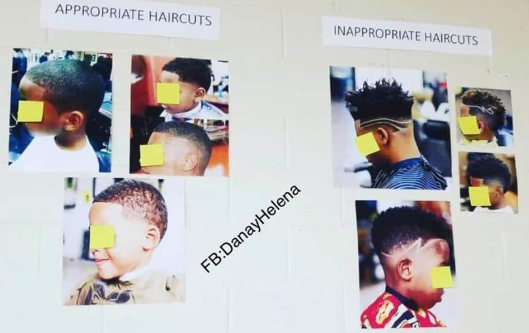 People are speaking out after a post about hairstyle rules in a Georgia elementary school went viral on Facebook (Credit: Facebook)