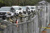 The Pentagon said it had authorized 15,000 National Guard troops (similar to the ones pictured in Washington state) to be deployed for Joe Biden's inauguration