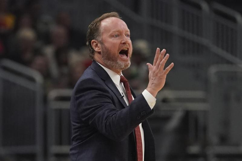 Milwaukee Bucks head coach Mike Budenholzer reacts during the first half of an NBA basketball game against the New Orleans Pelicans Wednesday, Dec. 11, 2019, in Milwaukee. (AP Photo/Morry Gash)