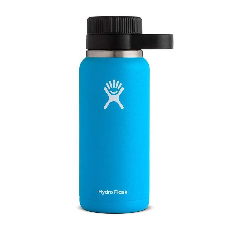 """<p><strong>Hydro Flask</strong></p><p>amazon.com</p><p><strong>$44.95</strong></p><p><a href=""""https://www.amazon.com/dp/B01GW2GOZY?tag=syn-yahoo-20&ascsubtag=%5Bartid%7C2089.g.2077%5Bsrc%7Cyahoo-us"""" rel=""""nofollow noopener"""" target=""""_blank"""" data-ylk=""""slk:Shop Now"""" class=""""link rapid-noclick-resp"""">Shop Now</a></p><p>Any craft-beer lover will be thrilled to open this Hydro Flask Growler. It's made with a TempShield double-wall, vacuum insulation to make sure his IPA stays as carbonated and icy-cold as when he first got it.</p>"""