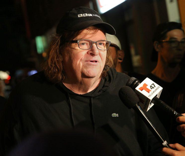 Director Michael Moore at the 'TrumpLand' premiere on Tuesday night (Photo: Jemal Countess/Getty Images)