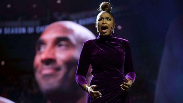 PHOTO: Jennifer Hudson performs a tribute to Kobe Bryant before the NBA All-Star Game at the United Center, Feb. 16, 2020, in Chicago. (Jonathan Daniel/Getty Images)