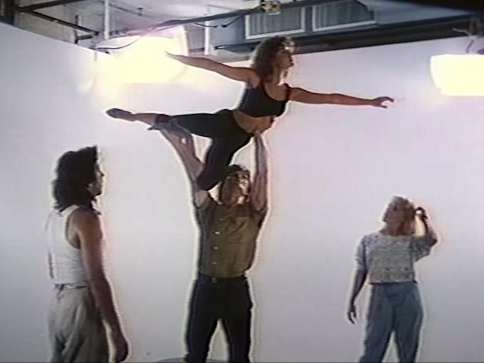 Patrick Swayze and Jennifer Grey during a screen test for Dirty Dancing (YouTube/Lionsgate Movies)