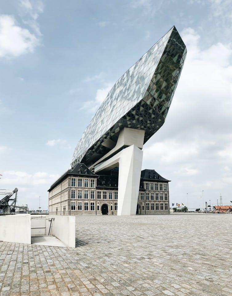 "<span class=""caption"">Antwerp Port House by Zaha Hadid Architects, Antwerp, Belgium.</span> <span class=""attribution""><a class=""link rapid-noclick-resp"" href=""https://unsplash.com/photos/H6RKjMQR-AI"" rel=""nofollow noopener"" target=""_blank"" data-ylk=""slk:Claudia Lorusso on Unsplash"">Claudia Lorusso on Unsplash</a>, <a class=""link rapid-noclick-resp"" href=""http://artlibre.org/licence/lal/en"" rel=""nofollow noopener"" target=""_blank"" data-ylk=""slk:FAL"">FAL</a></span>"