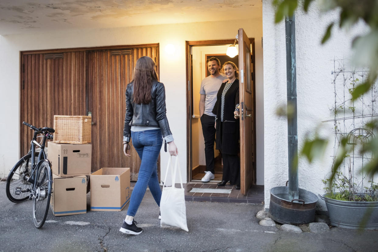 New research has revealed young people are coming back to live with their parents up to four times. (Getty Images)