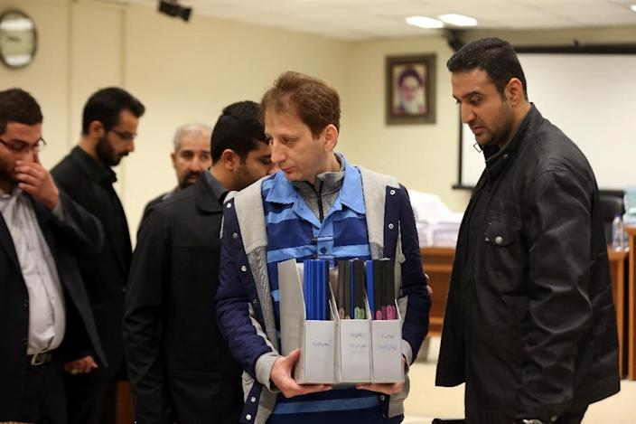 Babak Zanjani's trial was held in public, a rarity for such a major case in Iran (AFP Photo/Meghdad Madadi)