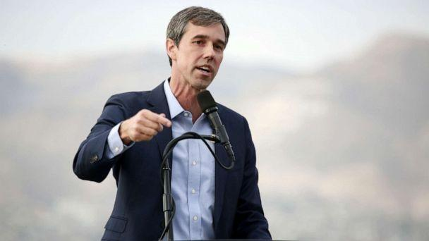 PHOTO: Democratic presidential candidate, former Rep. Beto ORourke (D-TX) speaks to media and supporters during a campaign re-launch, Aug. 15, 2019, in El Paso, Texas. (Sandy Huffaker/Getty Images, FILE)