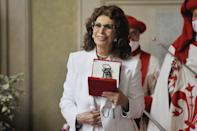 <p>Sophia Loren is honored with the keys to the city of Florence, Italy on June 5. </p>