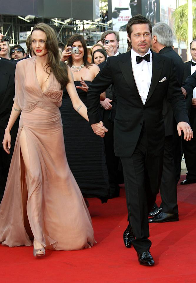 """<a href=""""http://movies.yahoo.com/movie/contributor/1800019275"""">Angelina Jolie</a> and <a href=""""http://movies.yahoo.com/movie/contributor/1800018965"""">Brad Pitt</a> at the 62nd Annual Cannes Film Festival premiere of <a href=""""http://movies.yahoo.com/movie/1808404206/info"""">Inglourious Basterds</a> - 05/20/2009"""