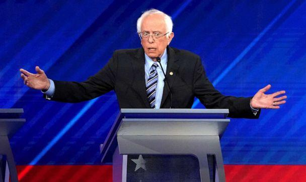PHOTO: Senator Bernie Sanders speaks during the 2020 Democratic U.S. presidential debate in Houston, T.X. on Sept. 12, 2019. (Mike Blake/Reuters, FILE)
