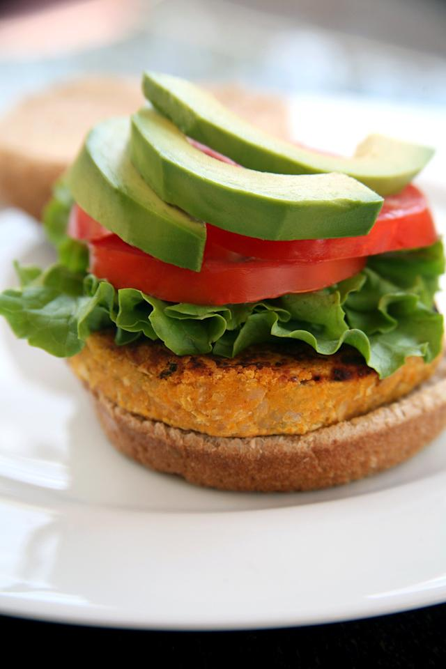 "<p>At around 150 calories, each <a href=""https://www.popsugar.com/fitness/Vegetarian-Sweet-Potato-Veggie-Burger-Recipe-21808414"" class=""ga-track"" data-ga-category=""Related"" data-ga-label=""http://www.popsugar.com/fitness/Vegetarian-Sweet-Potato-Veggie-Burger-Recipe-21808414"" data-ga-action=""In-Line Links"">patty</a> is packed with sweet potato, white beans, and rice that offers almost five grams of fiber and six grams of protein. Enjoy yours on a bun, in a wrap, or on top of a fresh salad.</p> <p><strong>Get the recipe:</strong> <a href=""https://www.popsugar.com/fitness/Vegetarian-Sweet-Potato-Veggie-Burger-Recipe-21808414"" class=""ga-track"" data-ga-category=""Related"" data-ga-label=""http://www.popsugar.com/fitness/Vegetarian-Sweet-Potato-Veggie-Burger-Recipe-21808414"" data-ga-action=""In-Line Links"">sweet potato veggie burger</a></p>"