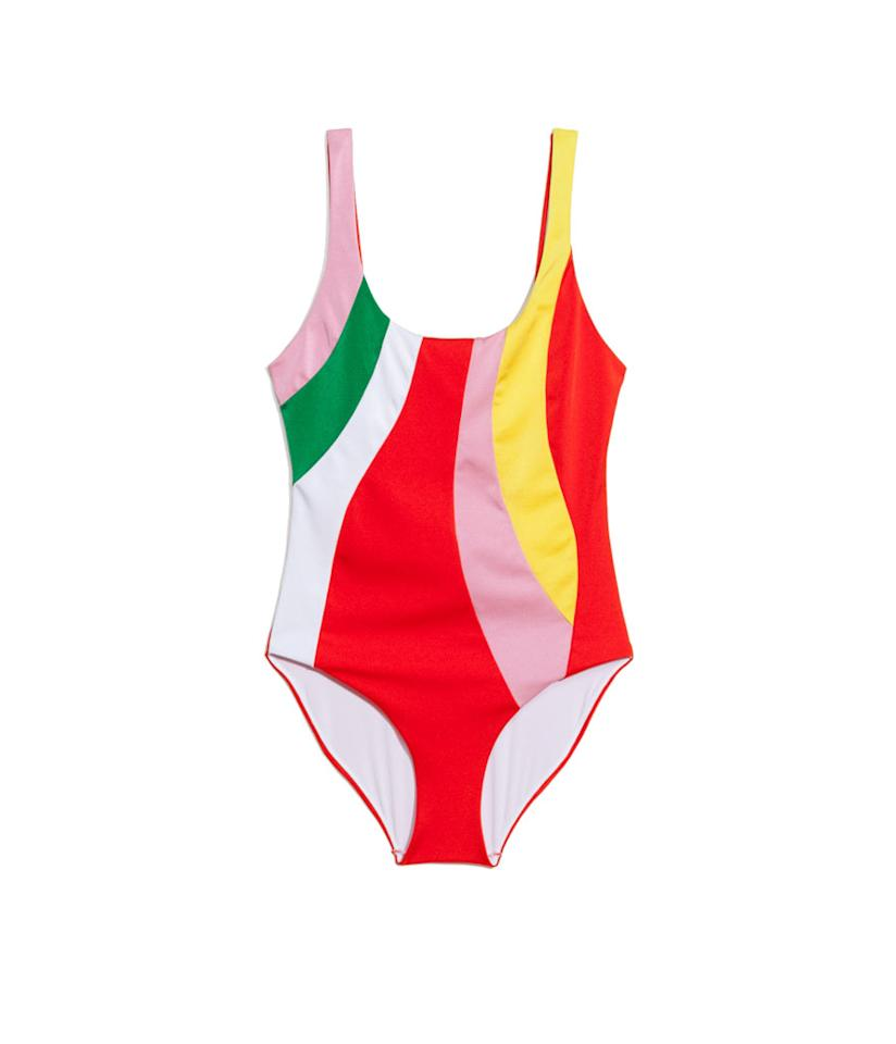 "<p>& Other Stories, Color Pop Swimsuit, $55, <a rel=""nofollow"" href=""https://www.stories.com/us/Swimwear/All_Swimwear/Colour_Pop_Swimsuit/101223878-0585912001.2"">stories.com</a> </p>"